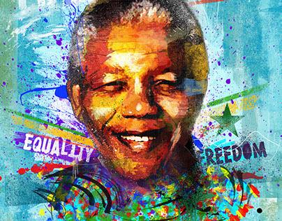Equality & Freedom - Mandela Tribute (poster)