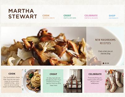 Martha Stewart - Web Re-design