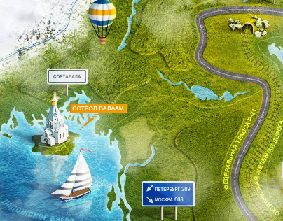 Map for the touristic  website