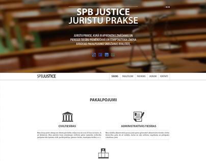 """SPB Justice"" Web design by Martins Markans"