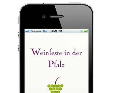 Mobile Site for the local Wine Festivals