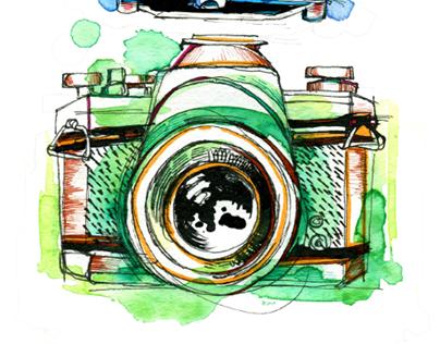 Vintage Cameras On Behance