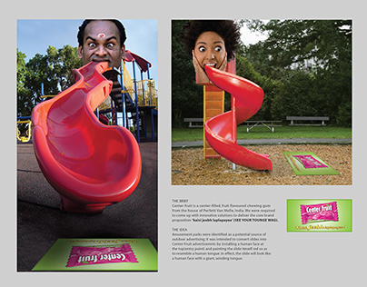 CENTER FRUIT CHEWING GUM - AMBIENT AD
