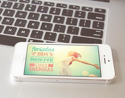 Campanha online - Feriados 2014