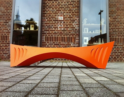 Bridge Bench-a curved folded bench