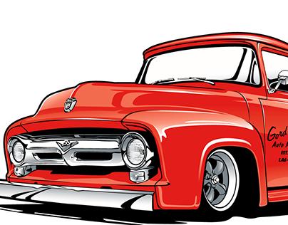 Classic Ford Truck Illustration