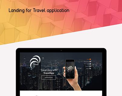 Landing for travel application