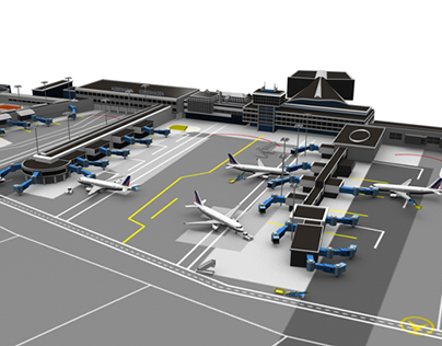 3D Modeling - International Airports