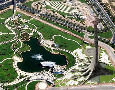Tall Emblem Structure At Za'abeel Park