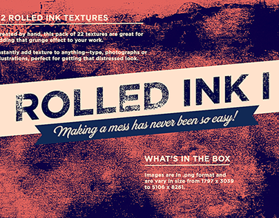 Rolled ink texture kit