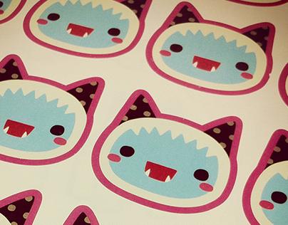 Yeti cat stickers