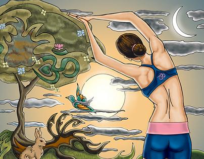 Sangha Space Yoga Poster