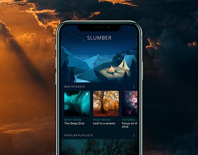 Mobile User Interface Design: Slumber App