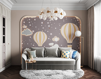 """Children's room in """"Petrovsky section on the water"""""""