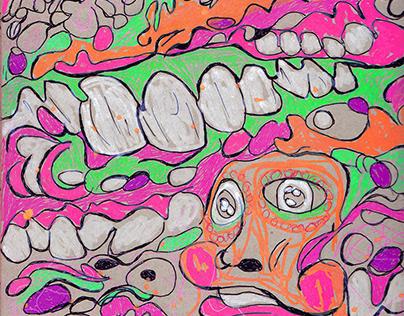 Sketchbook #4 Trippy Faces