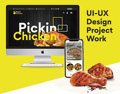 UI/UX Design Project Work - Pickin Chicken
