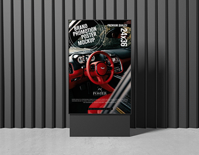 Brand Promotion Poster Mockup Free