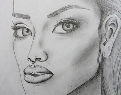DRAWING - SKETCH - ILLUSTRATION OF A WOMEN