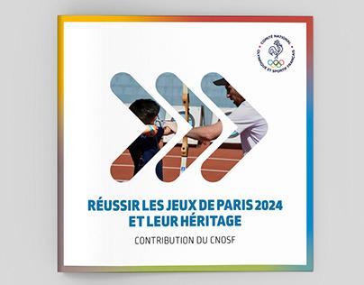 CNOSF - Plaquette héritage des Jeux Paris 2024