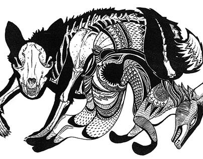 Life & Death of Vulpes (Lithograph/Screenprint)