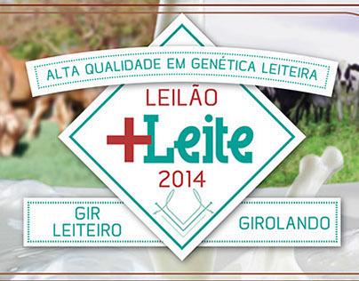 Poster Leilão +Leite 2014