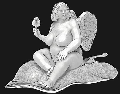 Leaf fairy - Chubby zbrushing