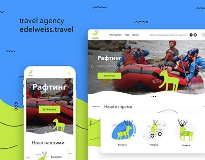 Design web site travel agency Edelweiss