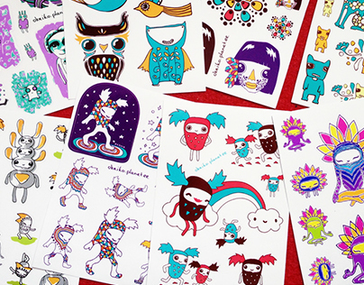 A5 sticker sheets