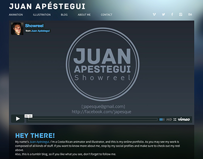 Juan's Tumblr-based portfolio