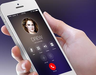 iOS8 Calling Screen Redesign Concept