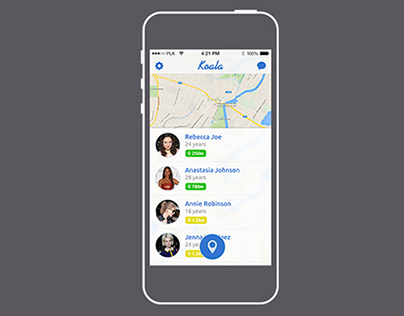 Koala Geosocial iOS App.