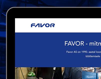 Favor website design