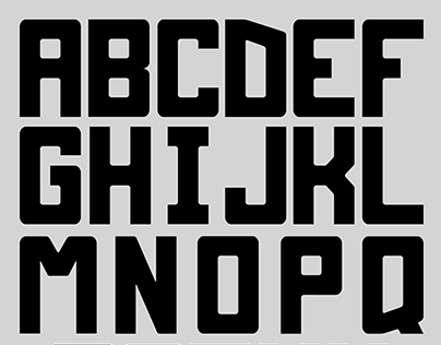 Round the Block Typeface