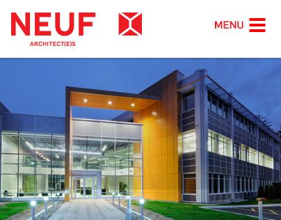 Neuf architect(e)s - website