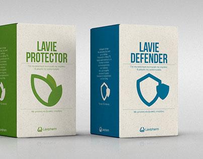 LAVIPHARM. Brand identity/packaging.
