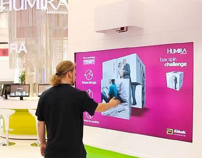 Ventuz touchless cube Game for Abbott Humira