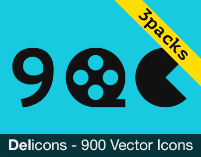 Delicons - 900 Vector Icons