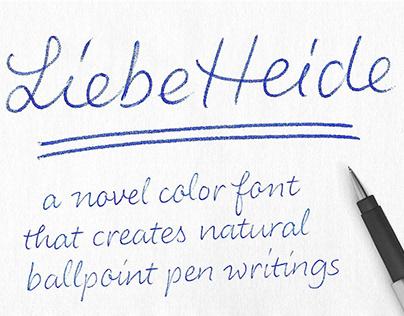 Color Font LiebeHeide