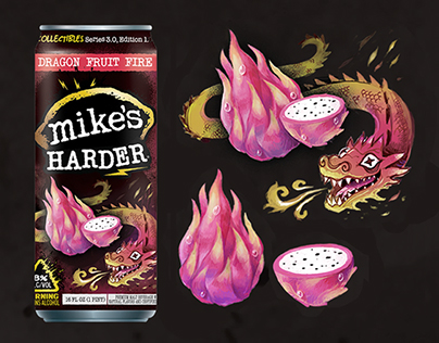mike's HARDER: Dragon Fruit Fire Illustration