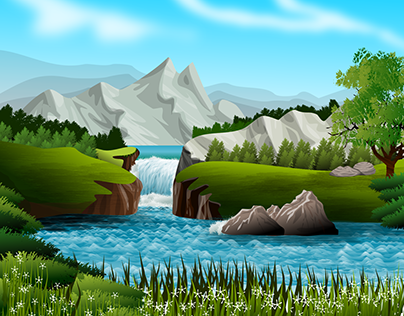 Waterfall river