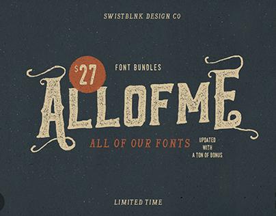 Allofme Font Bundles