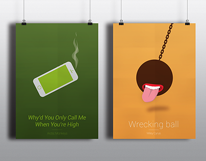 Minimalist song posters