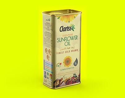 Clariss - Sunflower Oil Packaging Design