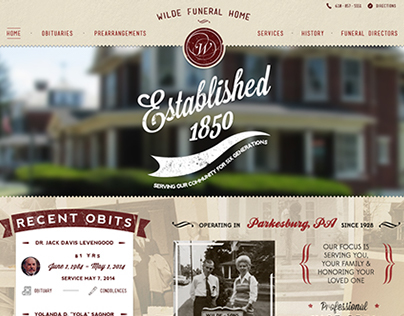 Wilde Funeral Home Website & Logo Design
