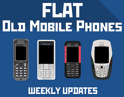 FLAT Old Mobile Phones