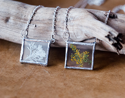 Jewelry Design: Glass and Plants