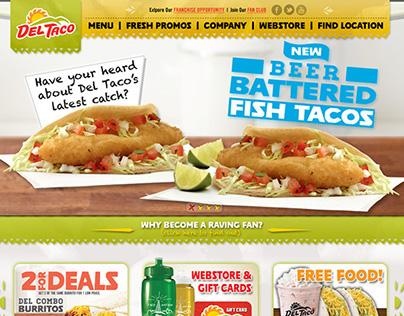Del Taco Website Concept