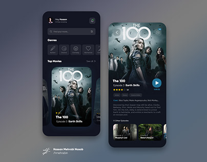 VOD Platform App concept design
