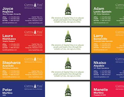 Capital Teas: Business Cards