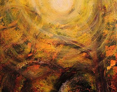 Ephemeral Radiance: Orange and Yellow